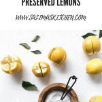 Lemons scored and ready to be preserved with salt