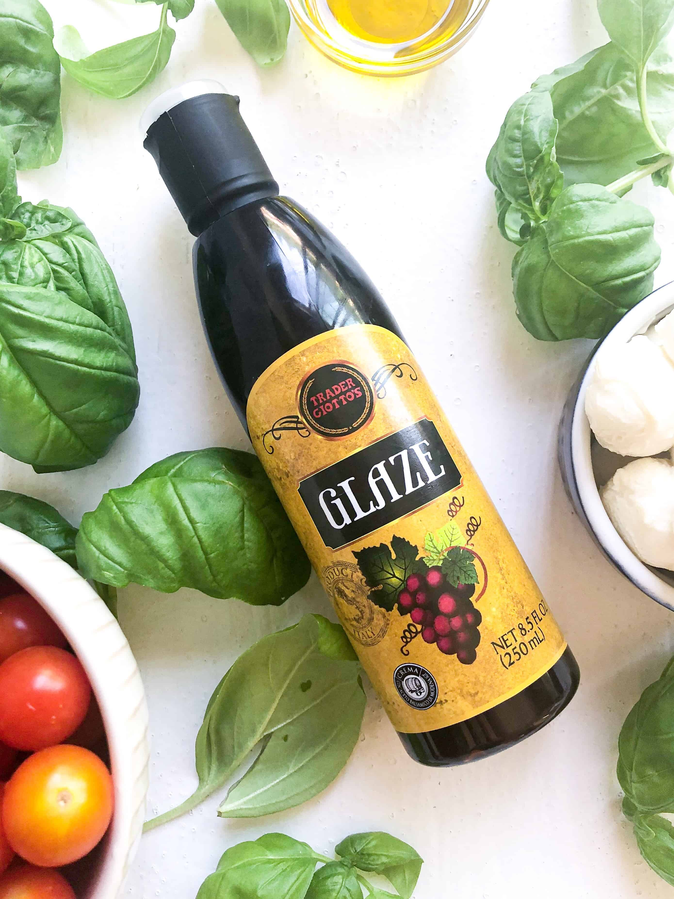 A bottle of balsamic glaze