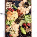 A colorful Vegan Charcuterie Board.