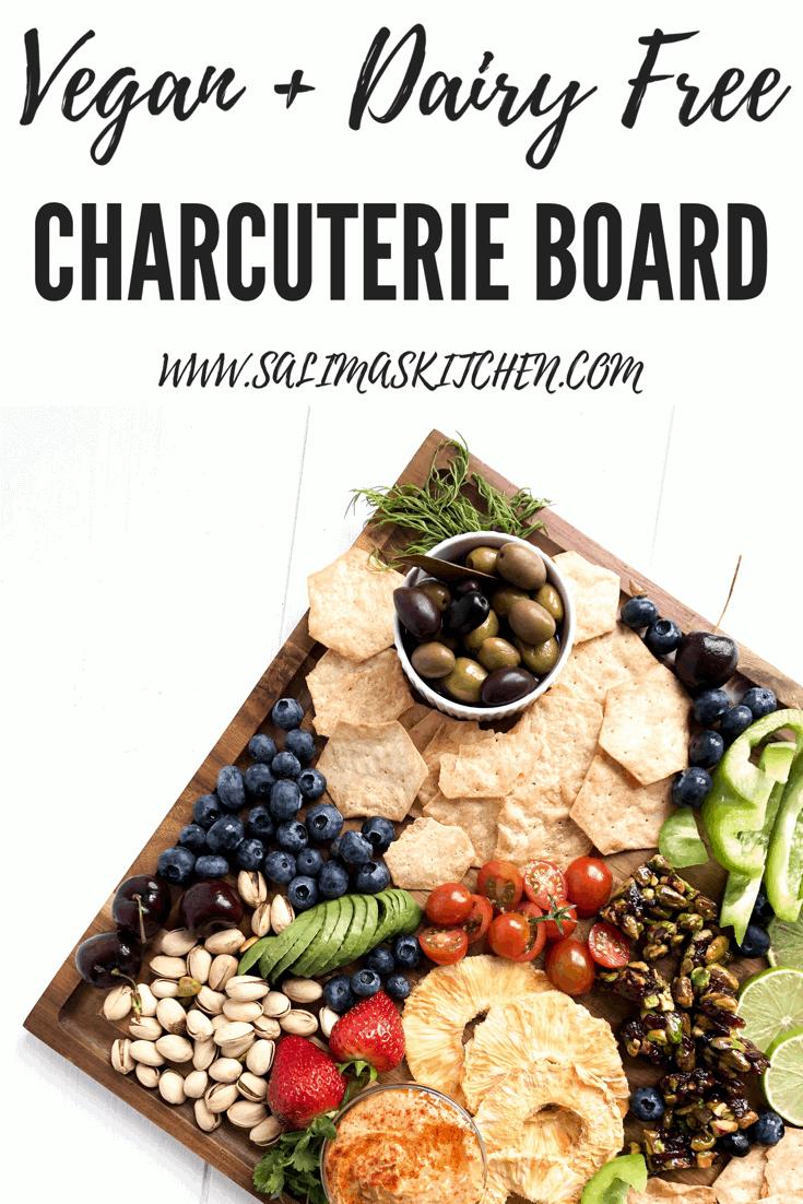 A vegan charcuterie board