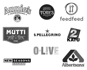 A picture of the brand logos that Salima's Kitchen has been featured on.