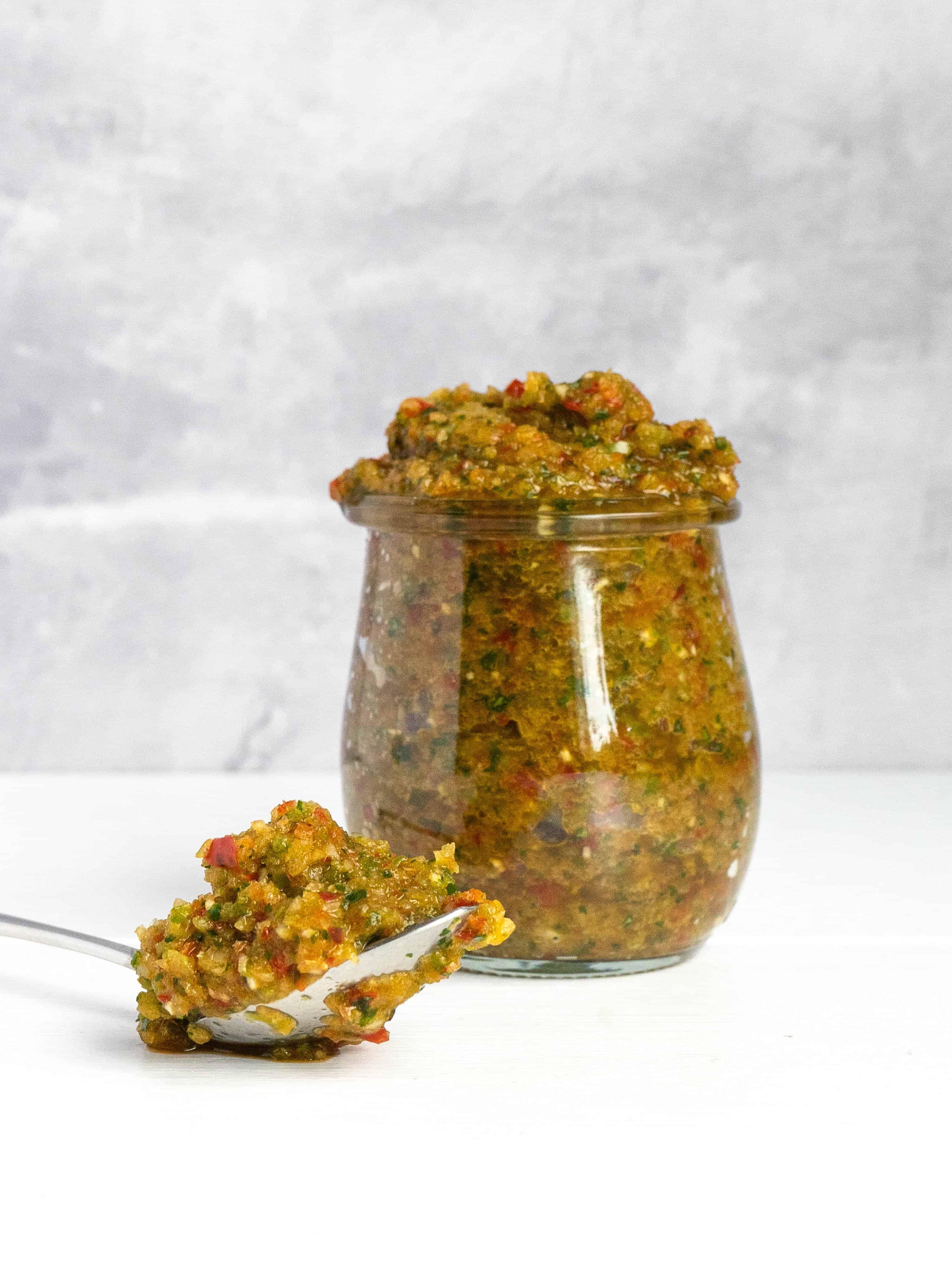 A jar of Puerto Rican sofrito