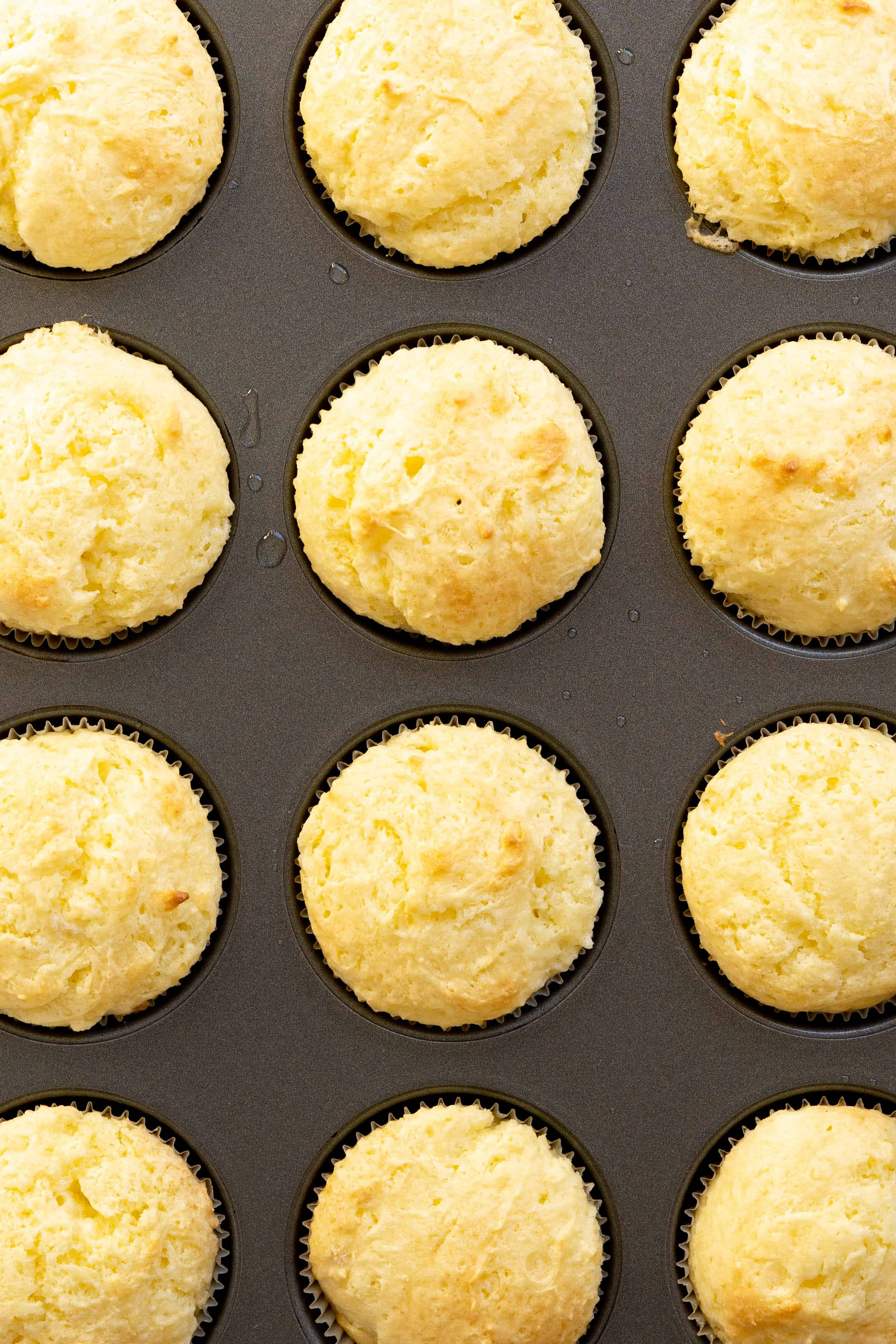 A muffin tin full of cupcakes