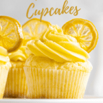 Lemon cupcakes with candied lemon slices