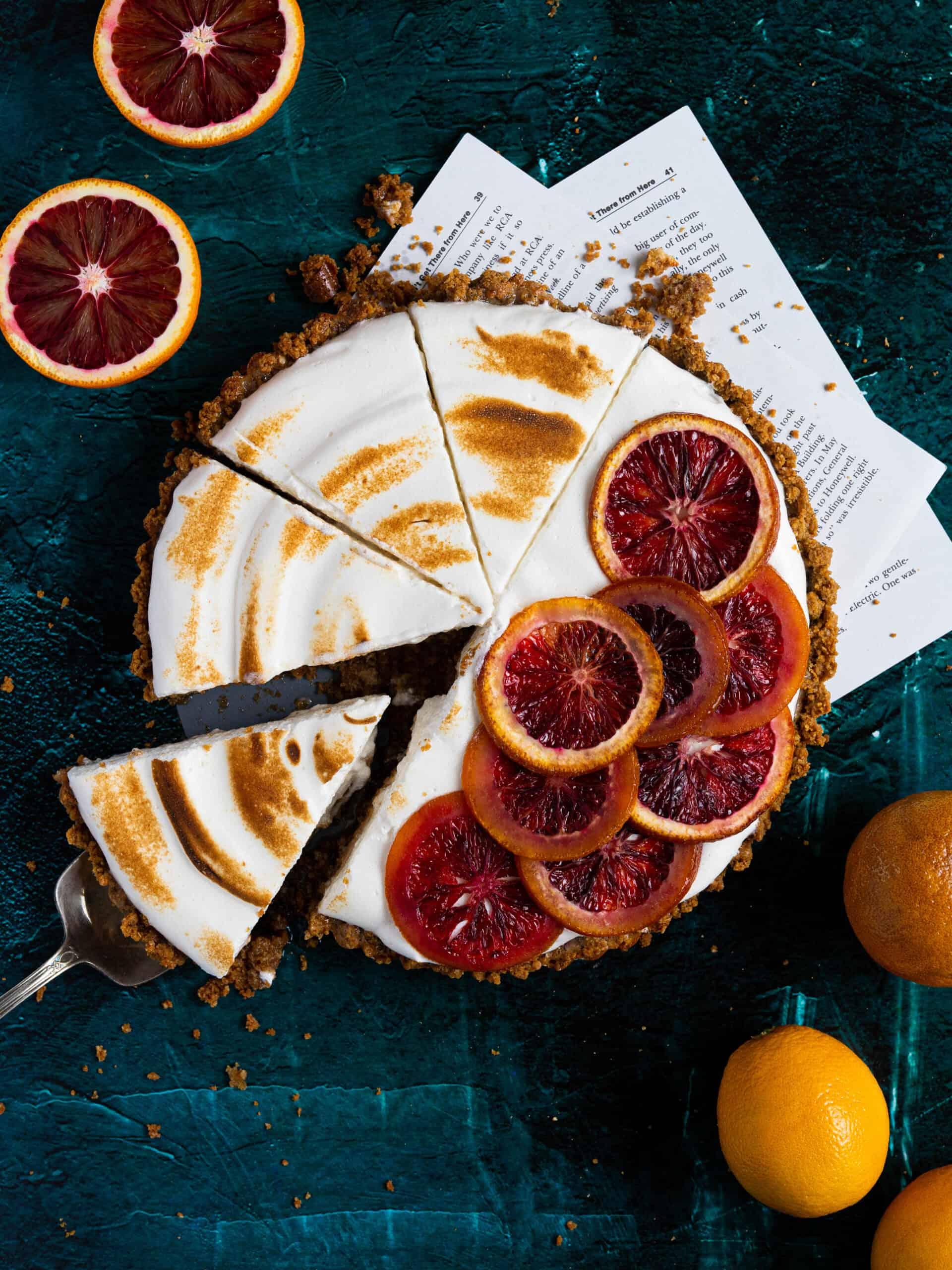 A blood orange tart