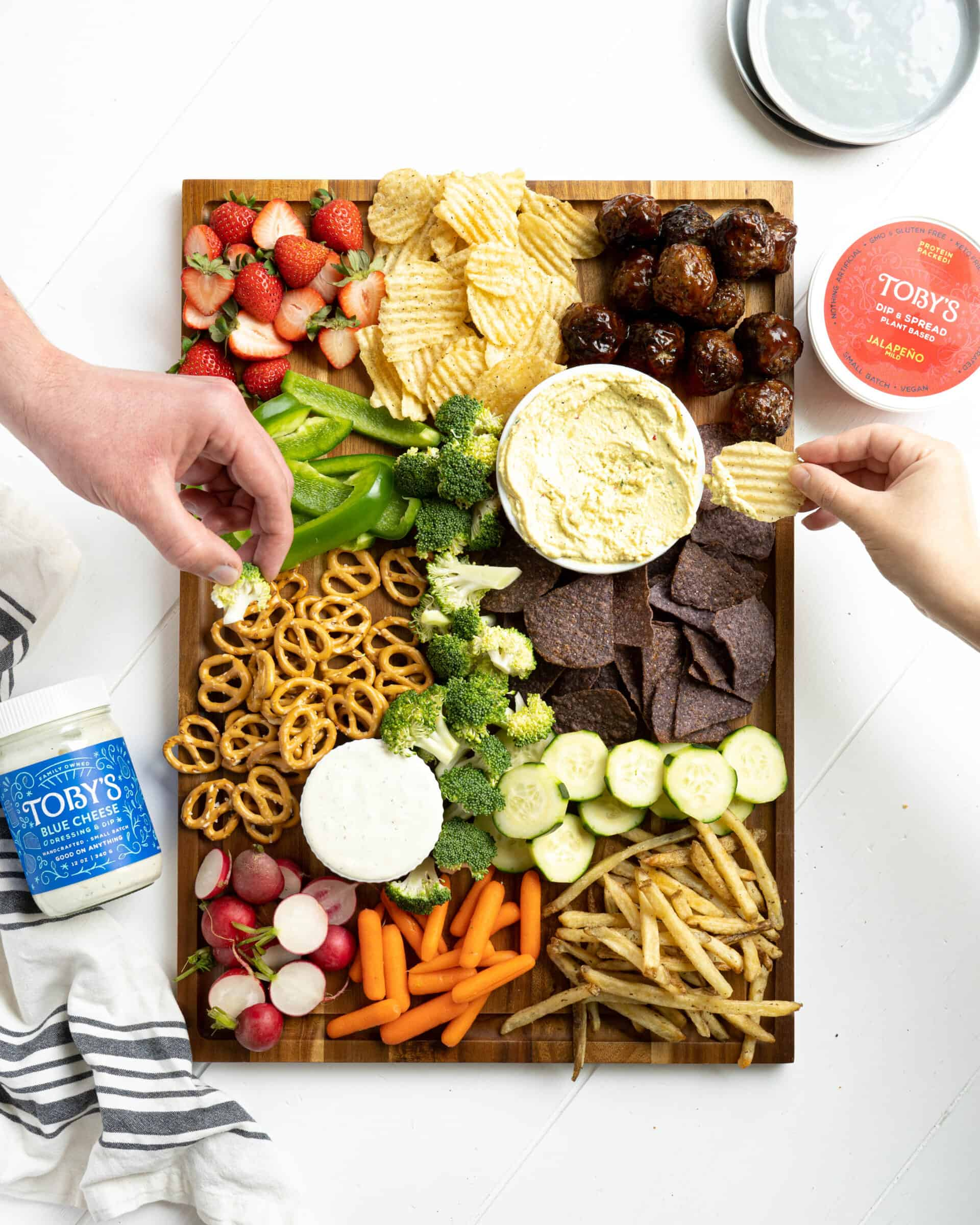 A game day food board