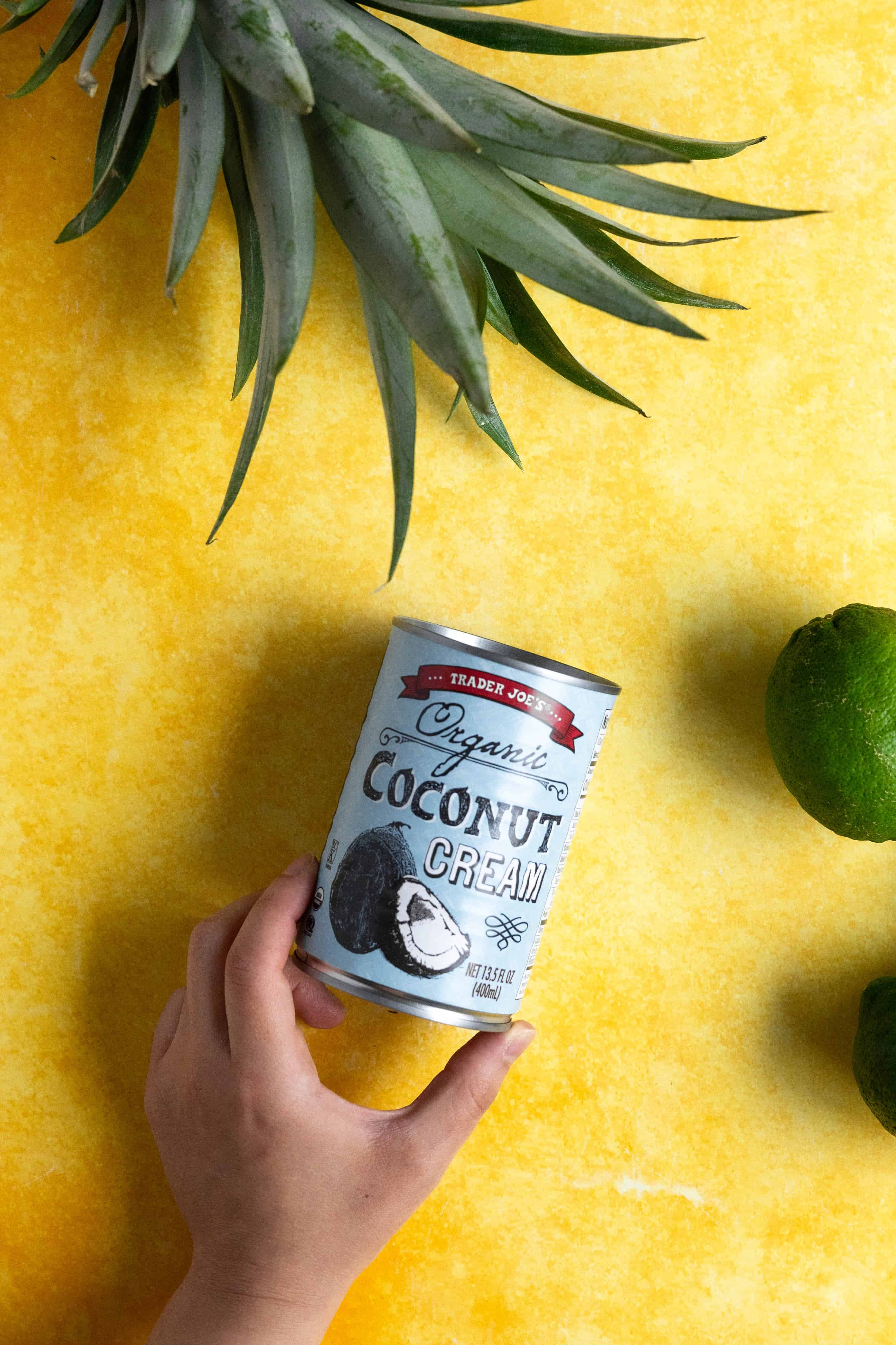 A can of coconut cream