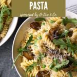 A bowl of mushroom pasta