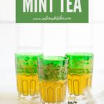three glasses of mint tea
