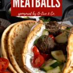 a pita full of meatballs