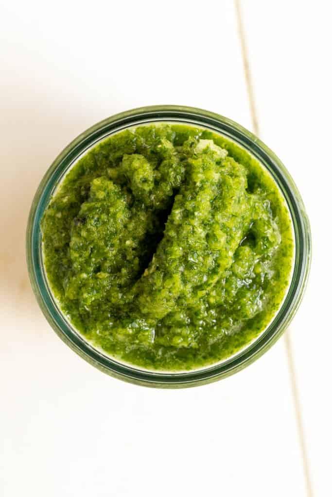 a bowl of green sofrito