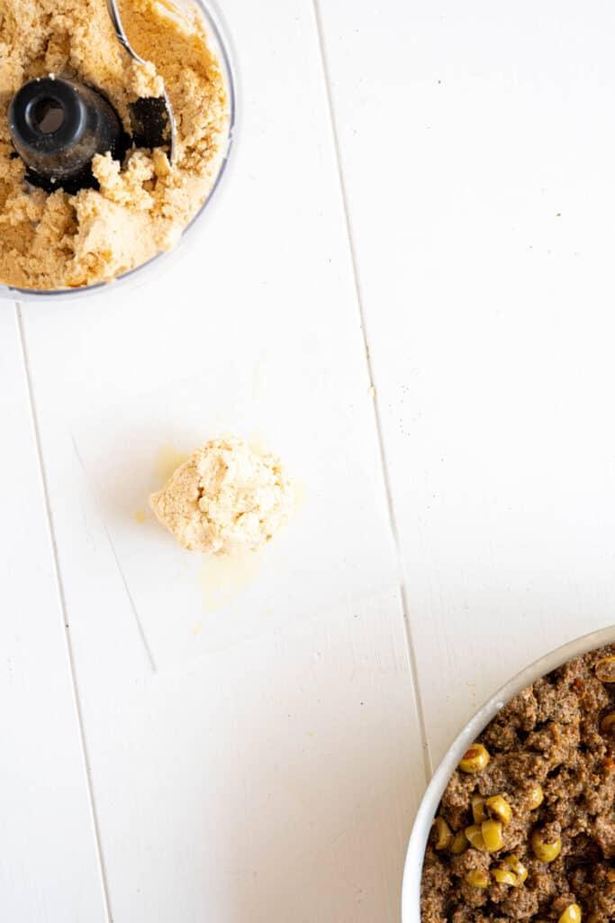 alcapurria dough on a table