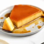 a plate of flan