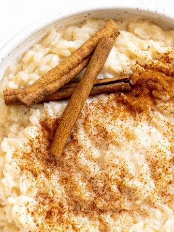a bowl of arroz con leche