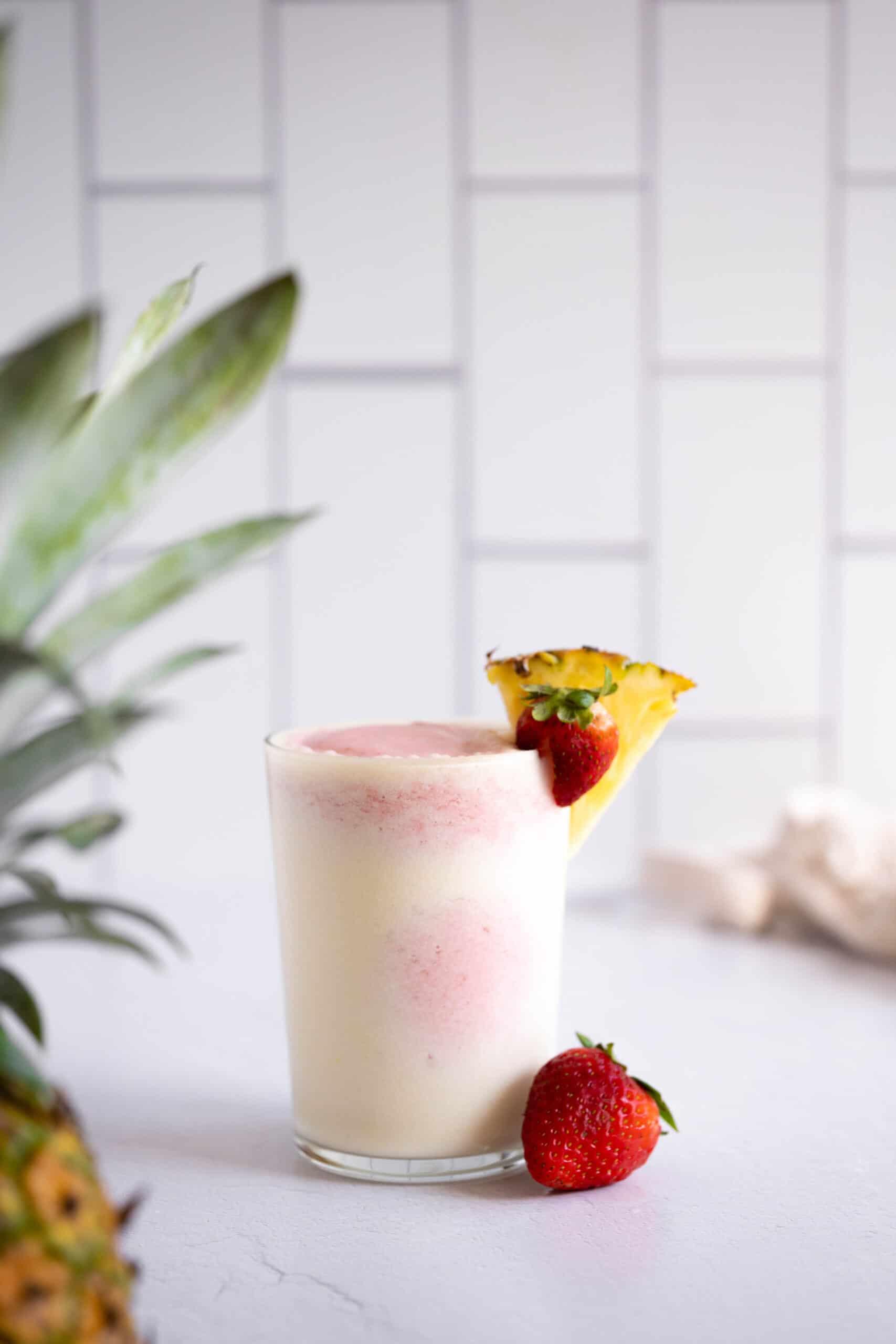A strawberry pina colada