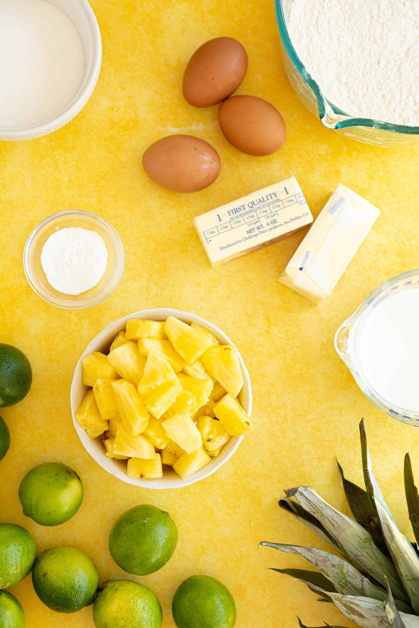 ingredients for a pina colada cake
