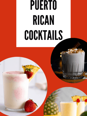 a collection of Puerto Rican cocktails